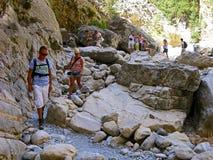 samaria острова Греции gorge Крита Стоковые Фотографии RF
