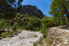 samaria острова Греции gorge Крита стоковое фото rf