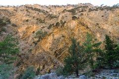 samaria острова Греции gorge Крита стоковое изображение