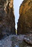 Samaria Gorge. The bed of a mountain river. Crete. Greece Stock Photos