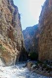 Samaria Gorge Canyon, Crete, Greece Royalty Free Stock Photos