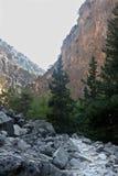 Samaria Gorge Canyon, Crete, Greece Stock Images