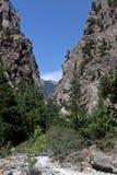 Samaria Gorge Canyon, Crete, Greece Stock Image