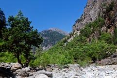 Samaria Gorge Canyon, Crete, Greece Royalty Free Stock Photo