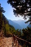 Samaria Gorge Canyon, Kreta, Griekenland Stock Fotografie