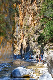 Samaria Gorge in central Crete, Greece Stock Image
