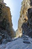 Samaria Gorge, Crète, Grèce images stock