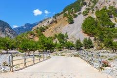Samaria Gorge on Crete Stock Image