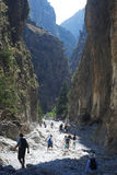Samaria Gorge. Crete, Greece royalty free stock photo