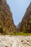Samaria Gorge. Crete, Greece Royalty Free Stock Images
