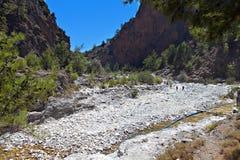 Samaria gorge at Crete island Royalty Free Stock Photos