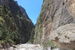 Samaria Gorge, Crete Royalty Free Stock Photography