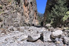 Samaria Gorge, Crete Stock Photo