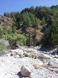Samaria Gorge, Kreta stockfoto