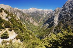Samaria Gorge, Kreta Stock Foto