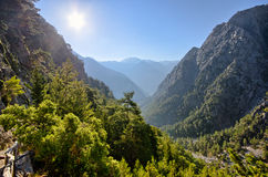 Samaria Gorge Kreta, Grekland Royaltyfri Fotografi