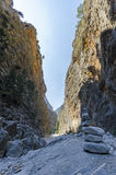 Samaria Gorge Kreta, Grekland Arkivbilder