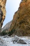 Samaria Gorge Kreta, Grekland Arkivfoton