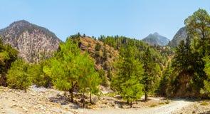 Samaria Gorge, Kreta, Griekenland Stock Foto's