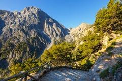 Samaria Gorge na Creta fotos de stock