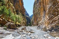Samaria Gorge na Creta central imagem de stock