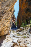 Samaria Gorge på Kreta Royaltyfri Fotografi