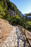 Samaria Gorge på Kreta Royaltyfri Foto