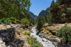 Samaria Gorge. Stock Photos
