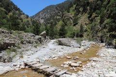Samaria Gorge vandring Arkivbilder