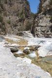 Samaria klyfta på Crete i Grekland Royaltyfri Bild