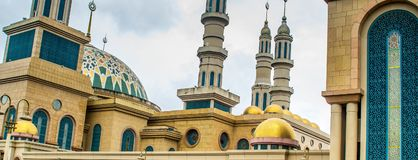 Samarinda Islamic Center Mosque, Indonesia. Dome of Samarinda Islamic Center Mosque, Indonesia Royalty Free Stock Photography