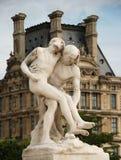 Samaritain. Statue Le Bon Samaritain in the famous Tuileries gardens in Paris, France Royalty Free Stock Image