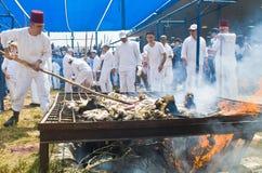 Samaritan Passover sacrifice Royalty Free Stock Images
