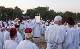 Samaritan Shavuot pray Stock Images