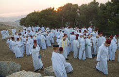 Samaritan Shavuot pray Stock Photo