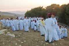 Samaritan Shavuot pray Royalty Free Stock Image