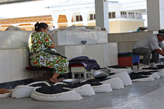 Samarkand bazaar, Uzbek woman Stock Photo