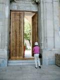 Samarkand Bibi-Khanim door 2007 Royalty Free Stock Photography
