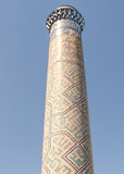 Samarkand Bibi-Khanim minaret September 2007 Royaltyfri Bild