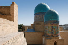 Samarkand. The ensemble Shahi Zinda stock photos