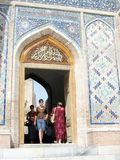 Samarkand entrance of Shakhi-Zindah 2007 Stock Image