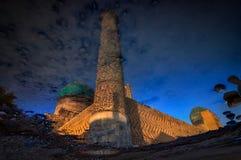 Samarkand i den reflexionsBibi Khanum moskén Arkivbilder