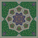 Samarkand-komplizierte Blumen-Verzierung Lizenzfreies Stockbild