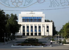 Samarkand musikal och dramateater September 2007 Royaltyfri Bild