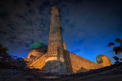 Samarkand in reflection Bibi Khanum mosque. Uzbekistan Stock Images