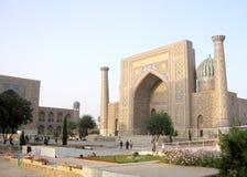 Samarkand Registan Sher-Dor Madrasah September 2007 Arkivbild