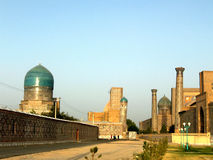 Samarkand the Registan at sunset 2007 Stock Photography