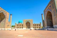 Samarkand Registan, Usbequistão Fotografia de Stock Royalty Free