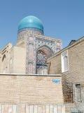 Samarkand Shakhi-Zindah blåttkupol September 2007 Royaltyfri Foto