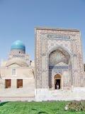 Samarkand Shakhi-Zindah ingången September 2007 Arkivfoto